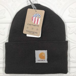 Carhartt Full Rib Knit Rolled Brim Beanie Hat